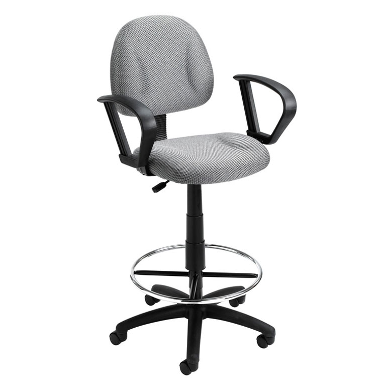 Boss Ergonomic Works Adustable Drafting Chair With Loop Arms And Removable Fo