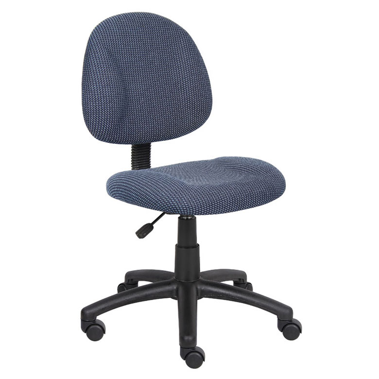 Merveilleux Boss Perfect Posture Deluxe Office Task Chair Without Arms, Blue