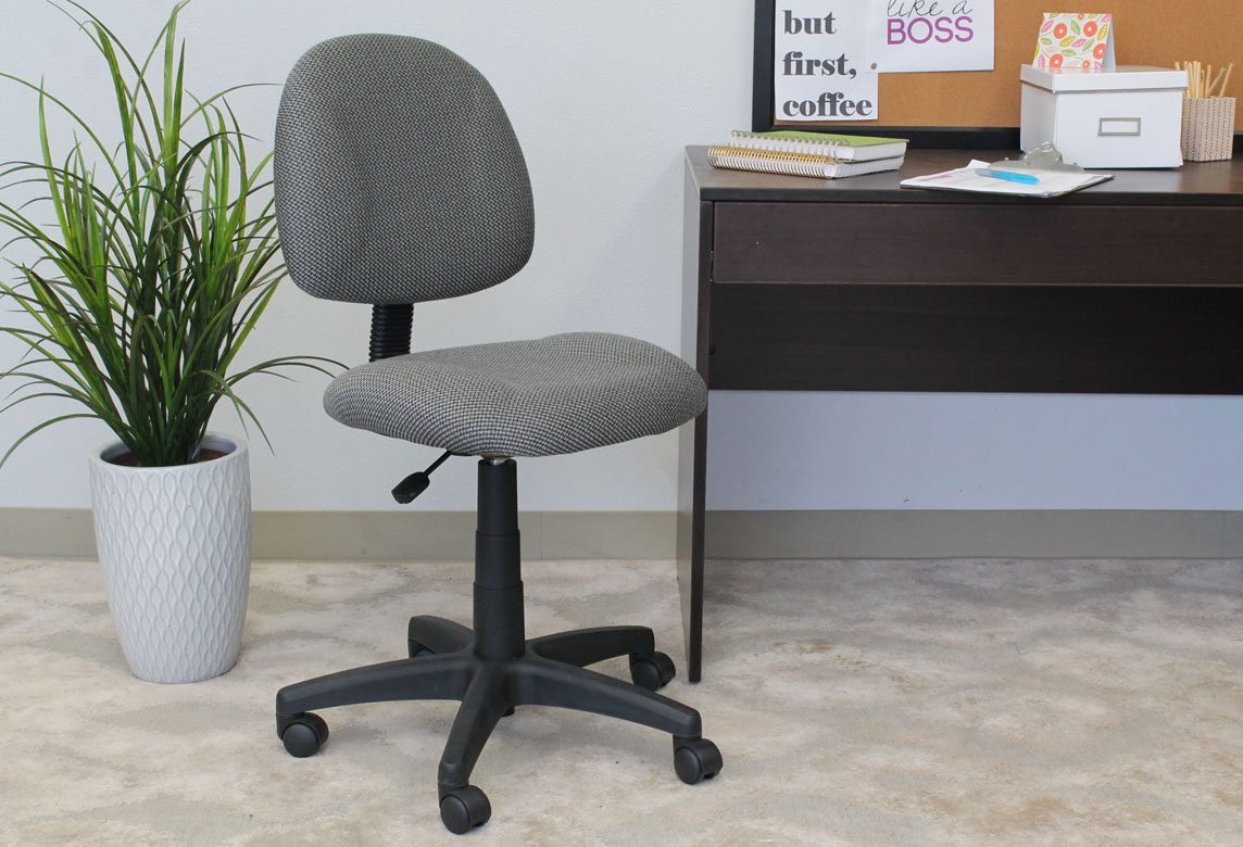 perfect posture chair. Boss Perfect Posture Deluxe Office Task Chair Without Arms, Grey O