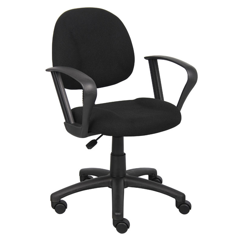 Boss Perfect Posture Deluxe Office Task Chair With Loop