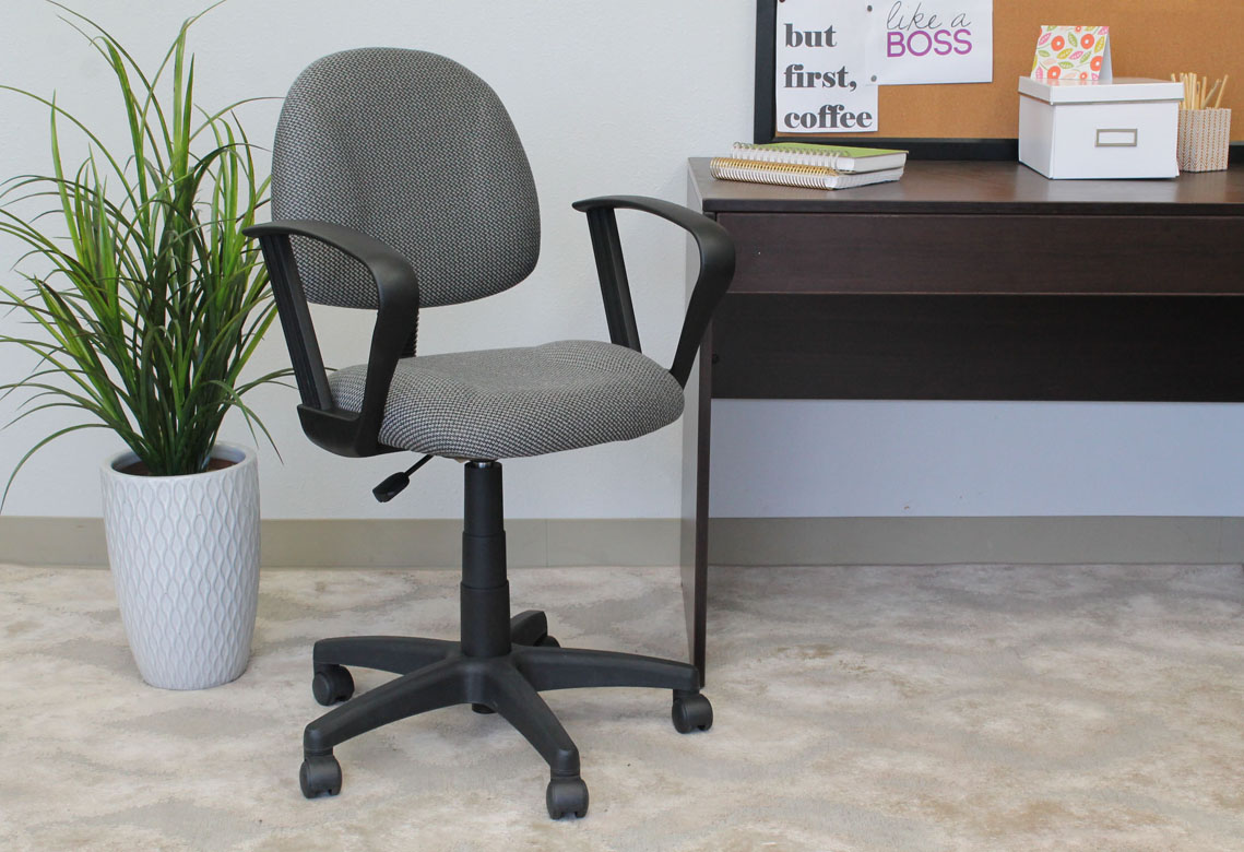 Boss Perfect Posture Deluxe fice Task Chair with Loop