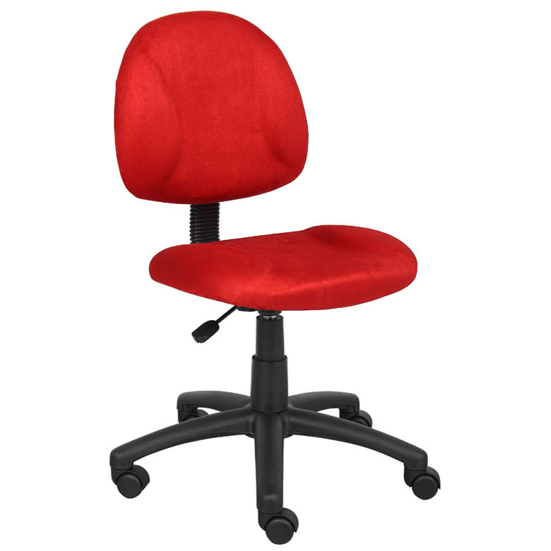 Boss Perfect Posture Deluxe Modern Microfiber Home Office