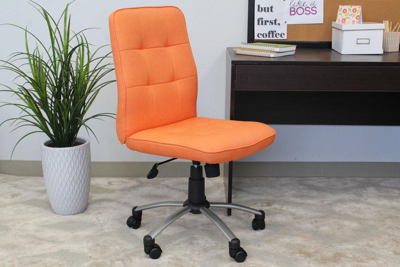 modern office chair orange bosschair