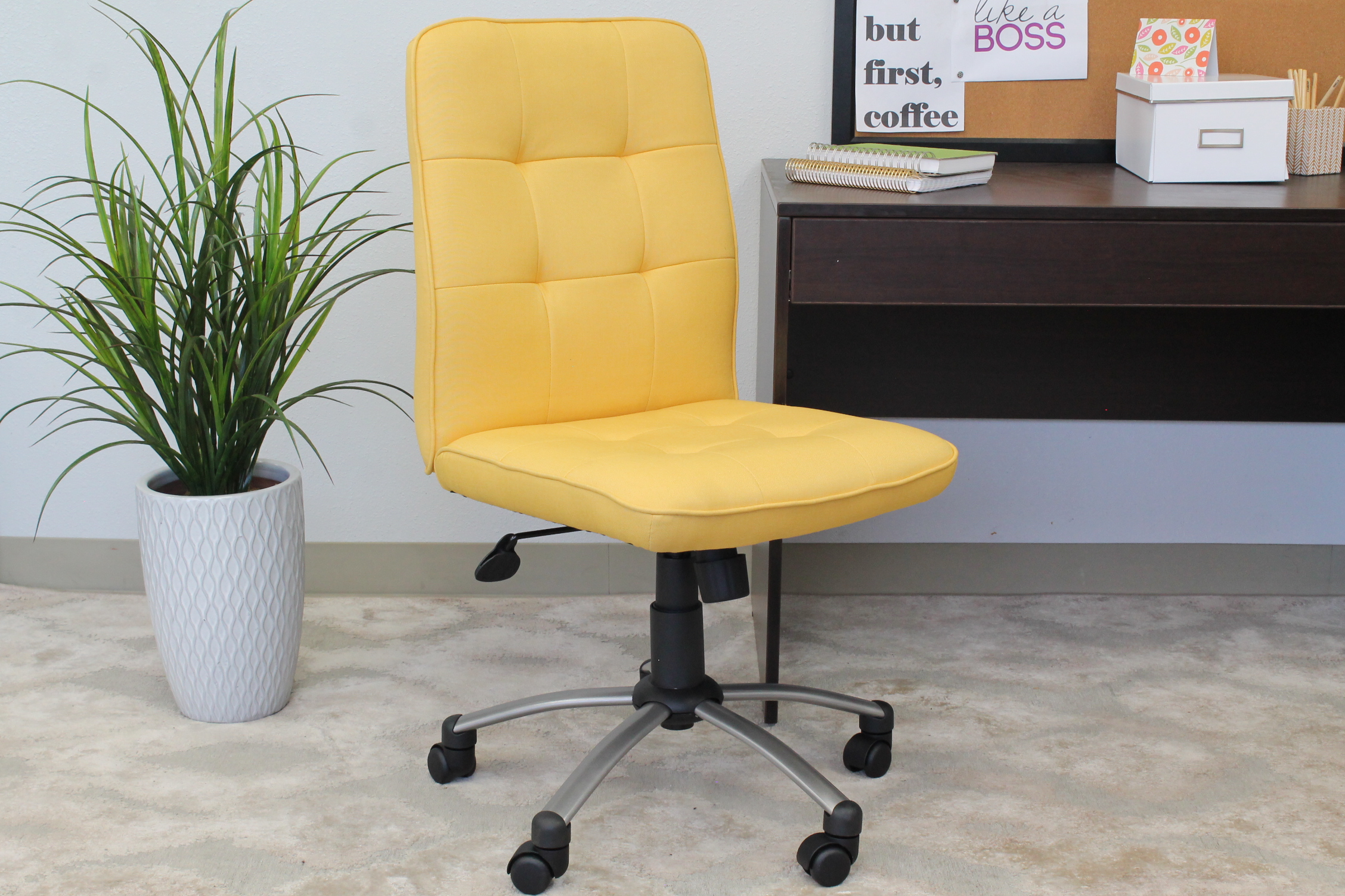 Modern Office Chair-Yellow – BossChair