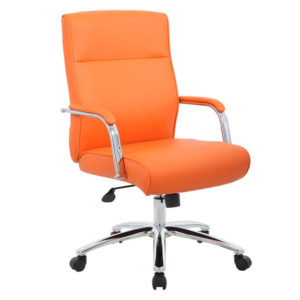 Delightful Boss Modern Executive Conference Chair Orange