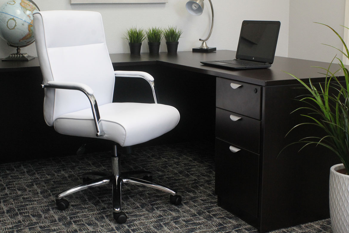 Boss Modern Executive Conference Chair White