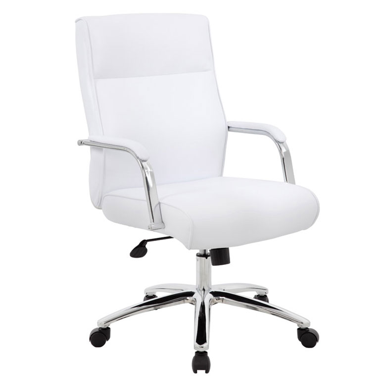 Boss Modern Executive Conference Chair White Bosschair