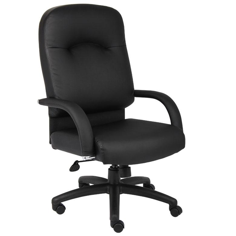 Boss High Back Caressoft Chair In Black Bosschair