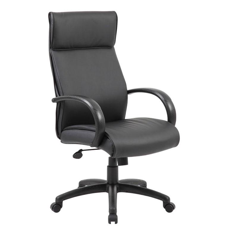 Etonnant Boss High Back Executive Chair / Black Finish / Black Upholstery