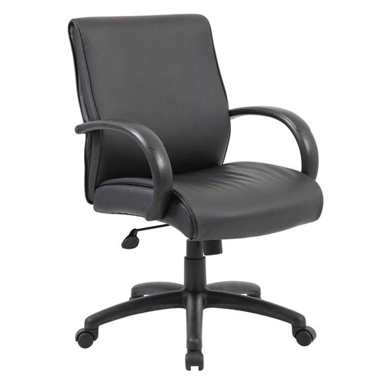 Boss Mid Back Executive Chair Black Finish Black