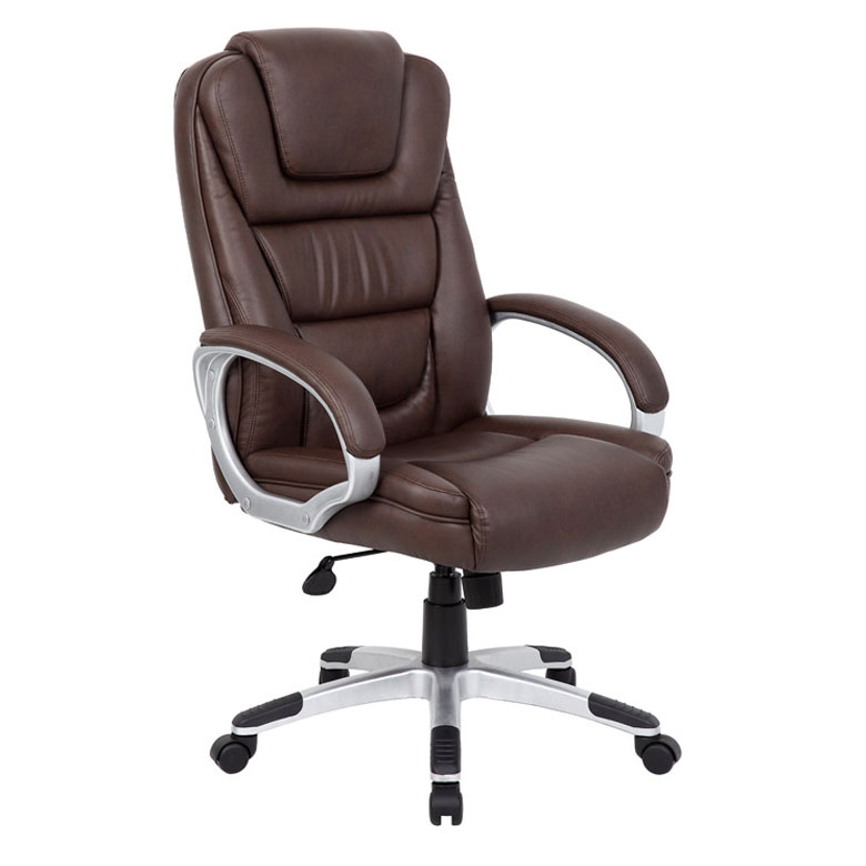 Boss Ntr Executive Leatherplus Chair Brown Bosschair