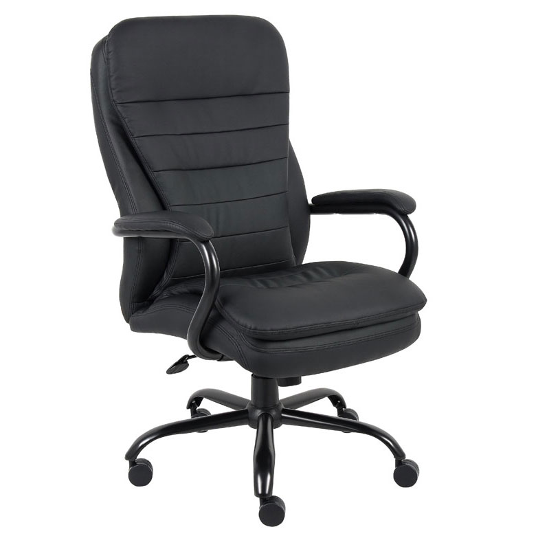 Accent Chair 400lbs: Boss Heavy Duty Double Plush CaressoftPlus Chair-400 Lbs
