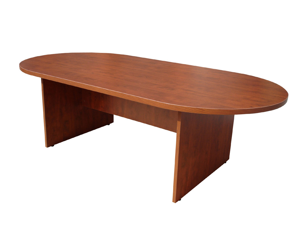 Boss W X D Race Track Conference Table Cherry BossChair - Cherry wood conference table