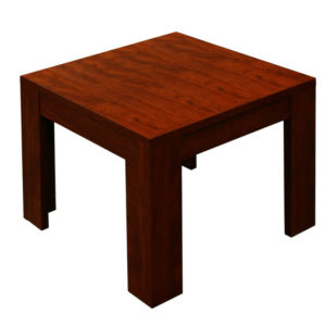 boss mahogany end table