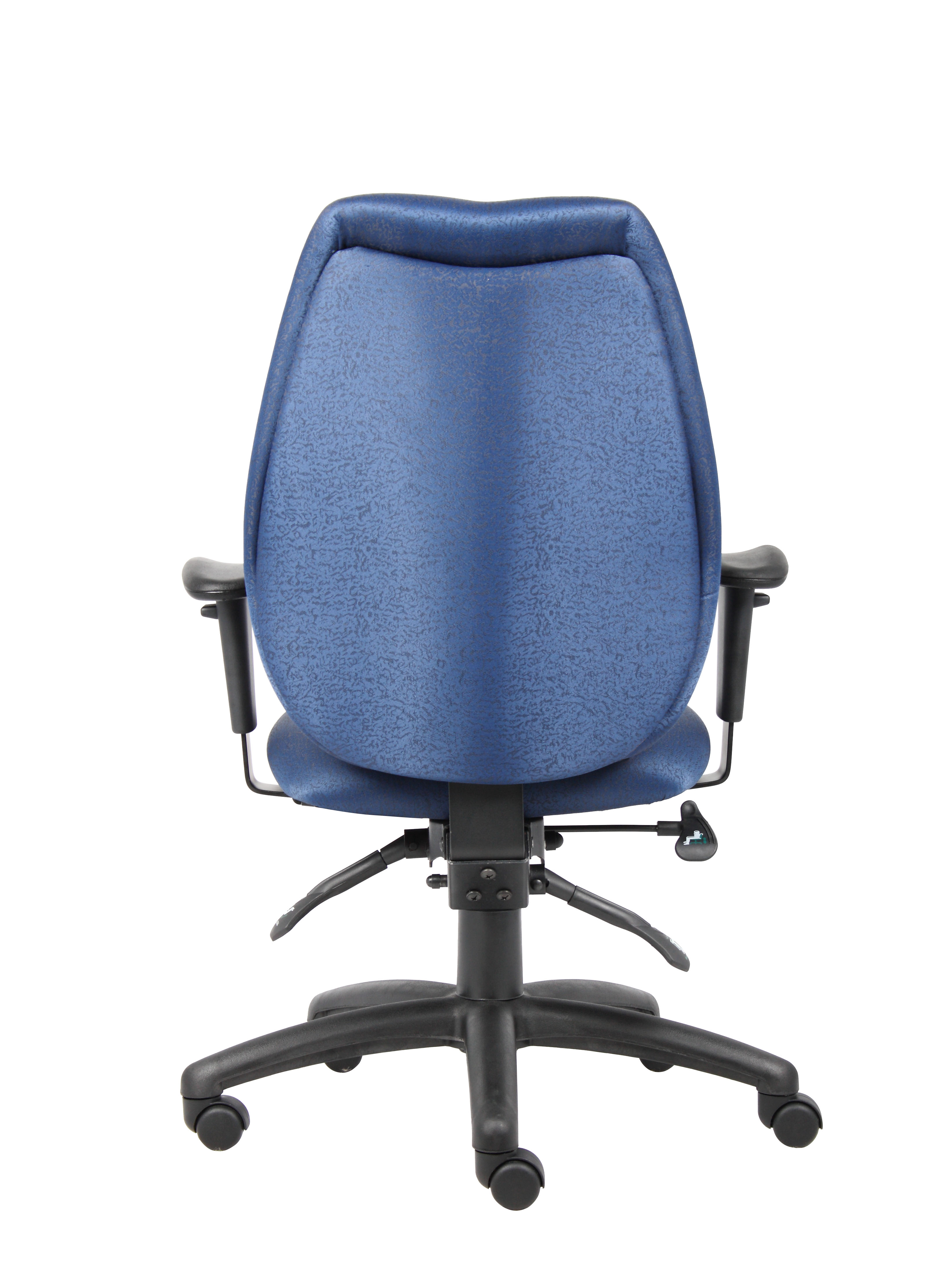 Boss High Back Task Chair With Adjustable Arms Blue