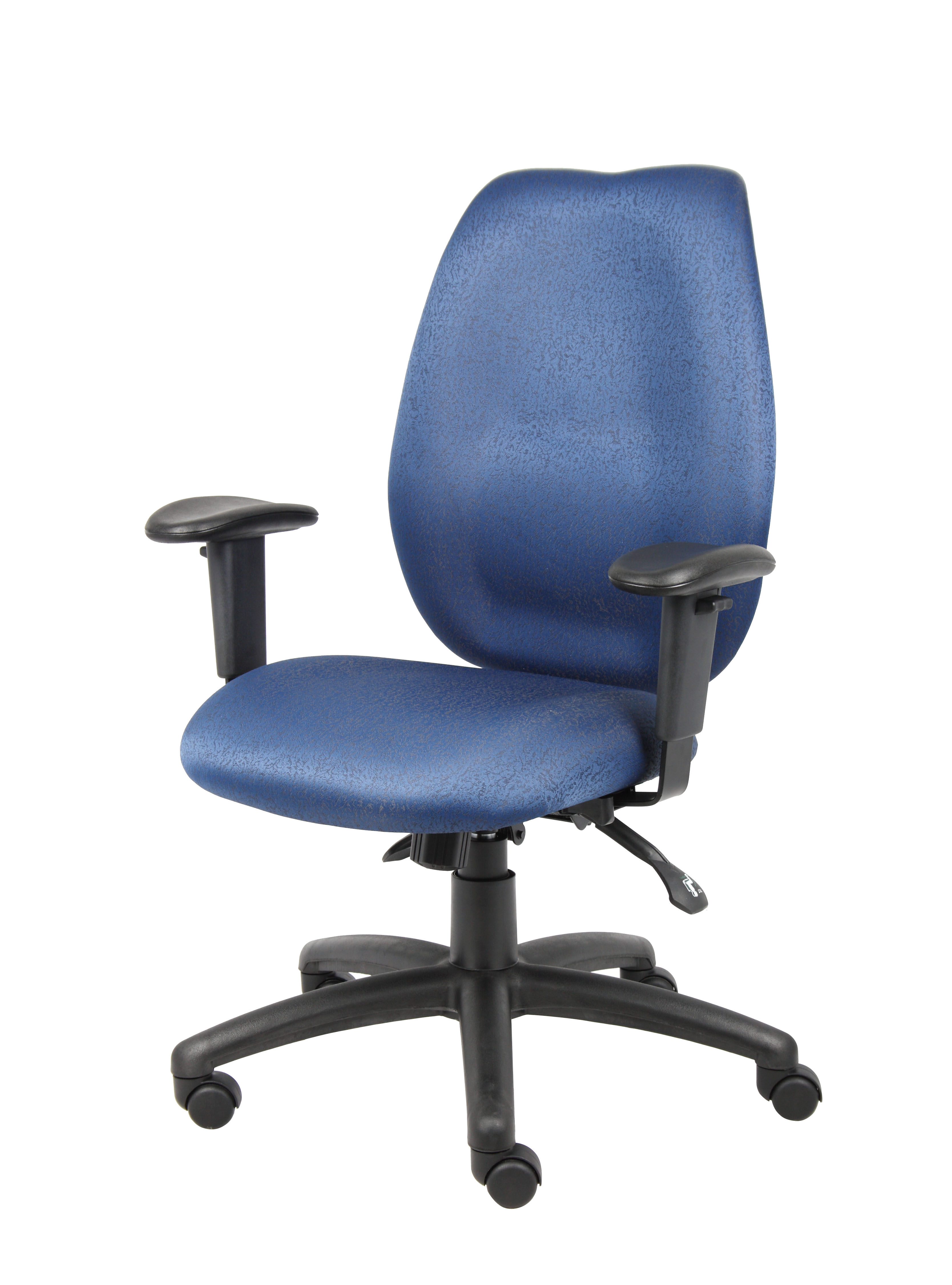 Boss High Back Task Chair With Adjustable Arms Blue BossChair