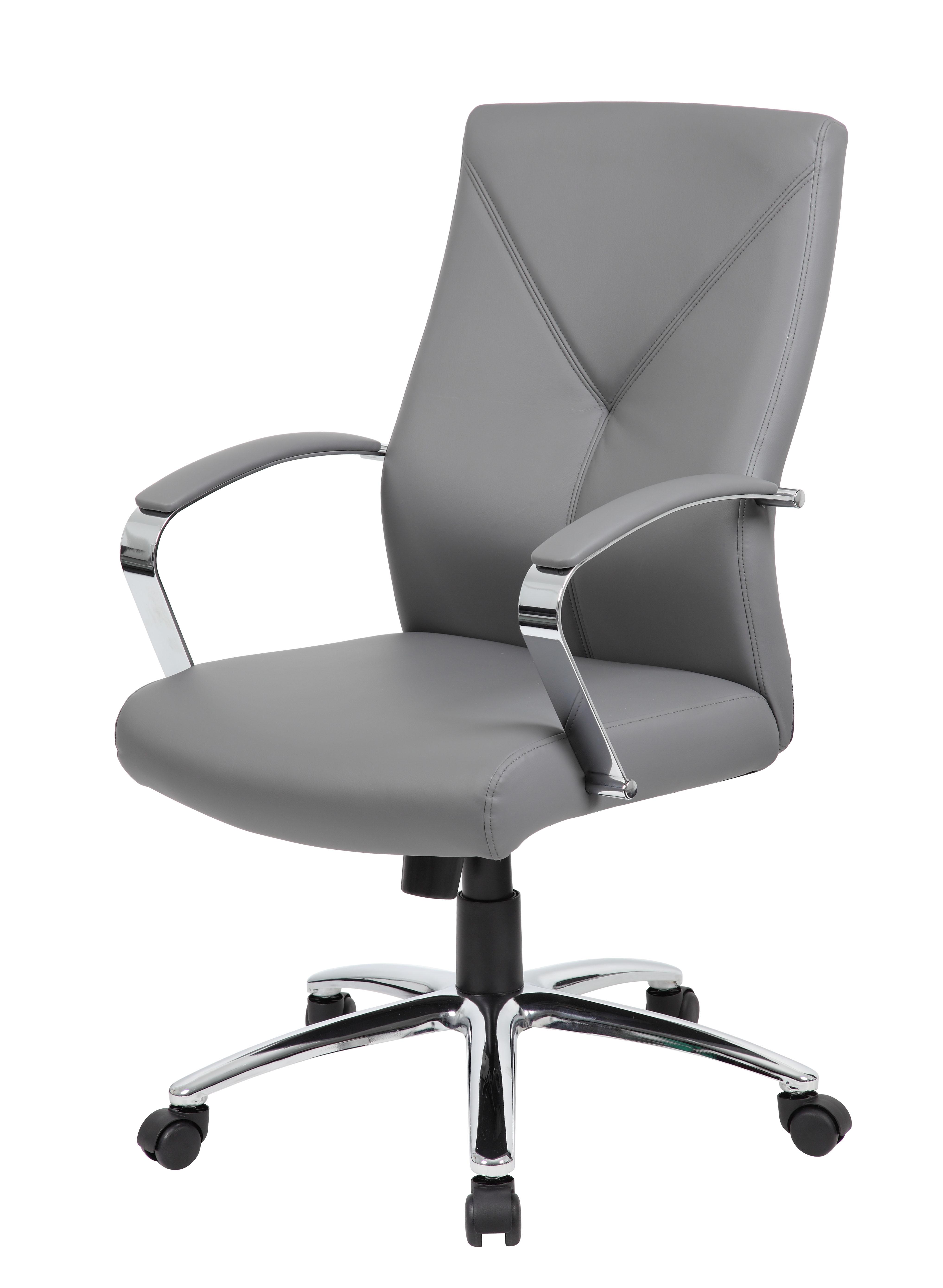Boss Leatherplus Executive Chair Grey Bosschair