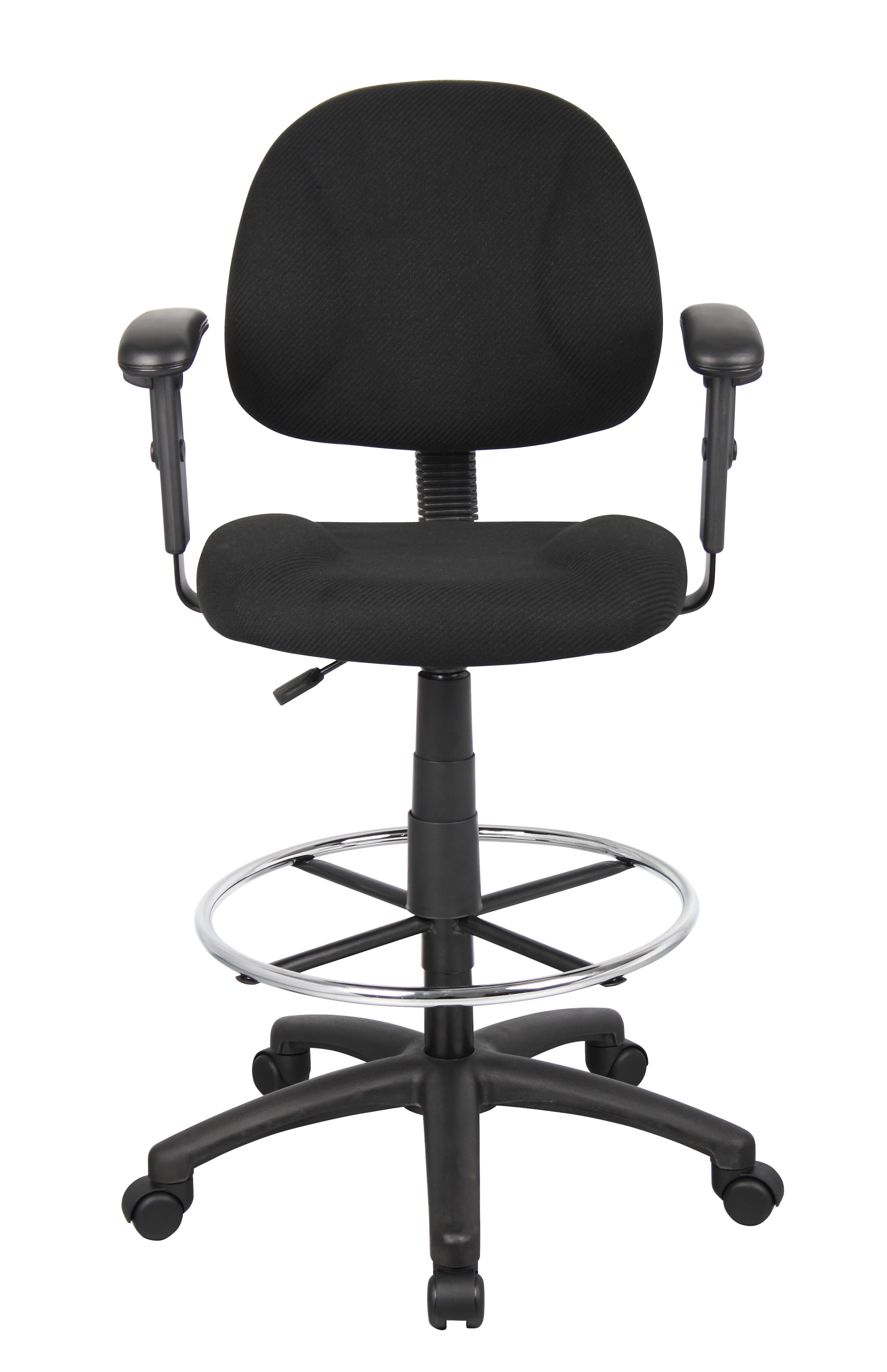 Sensational Boss Ergonomic Works Adustable Drafting Chair With Adjustable Arms And Removable Foot Rest Black Creativecarmelina Interior Chair Design Creativecarmelinacom