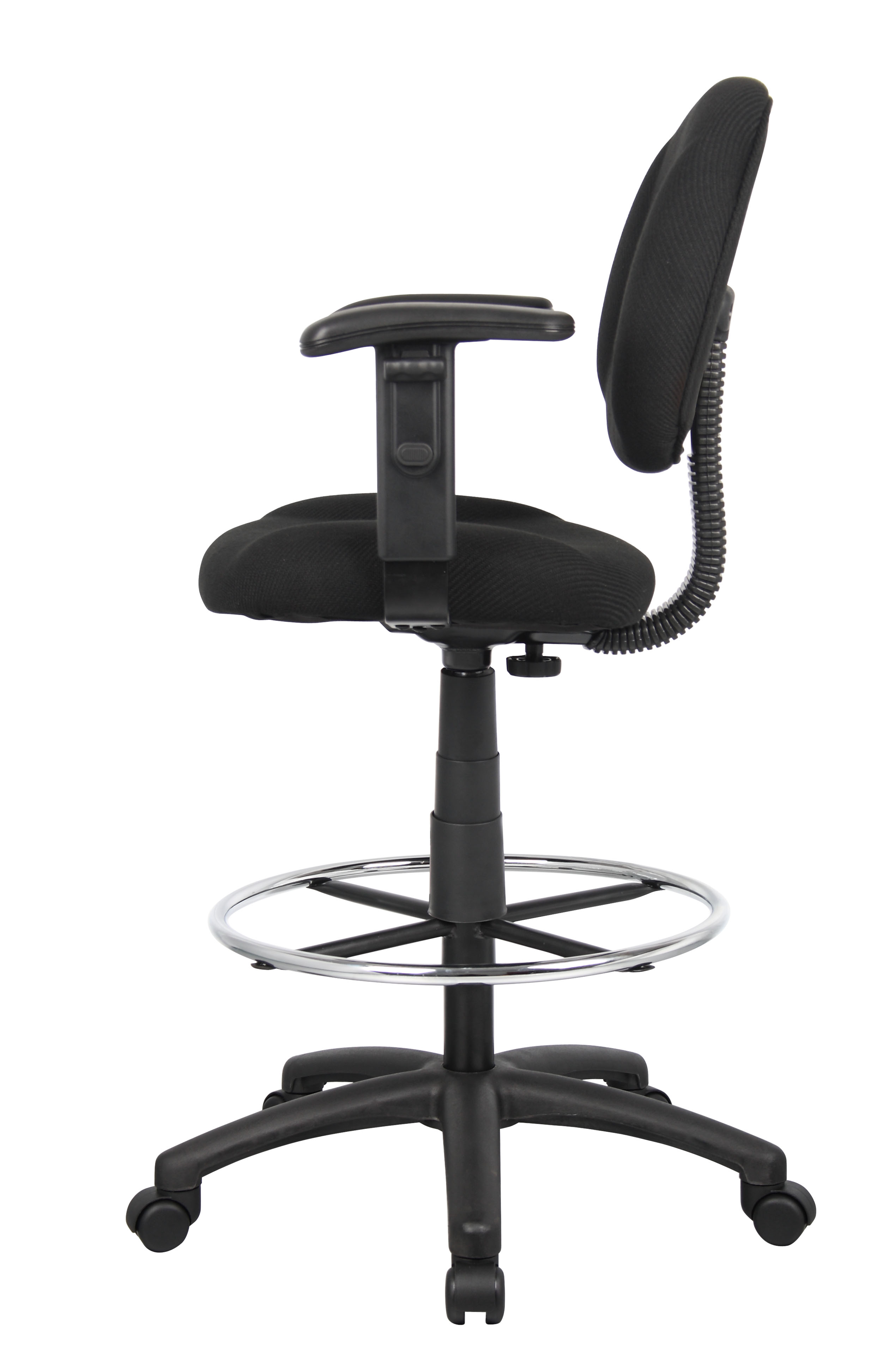 Peachy Boss Ergonomic Works Adustable Drafting Chair With Adjustable Arms And Removable Foot Rest Black Creativecarmelina Interior Chair Design Creativecarmelinacom