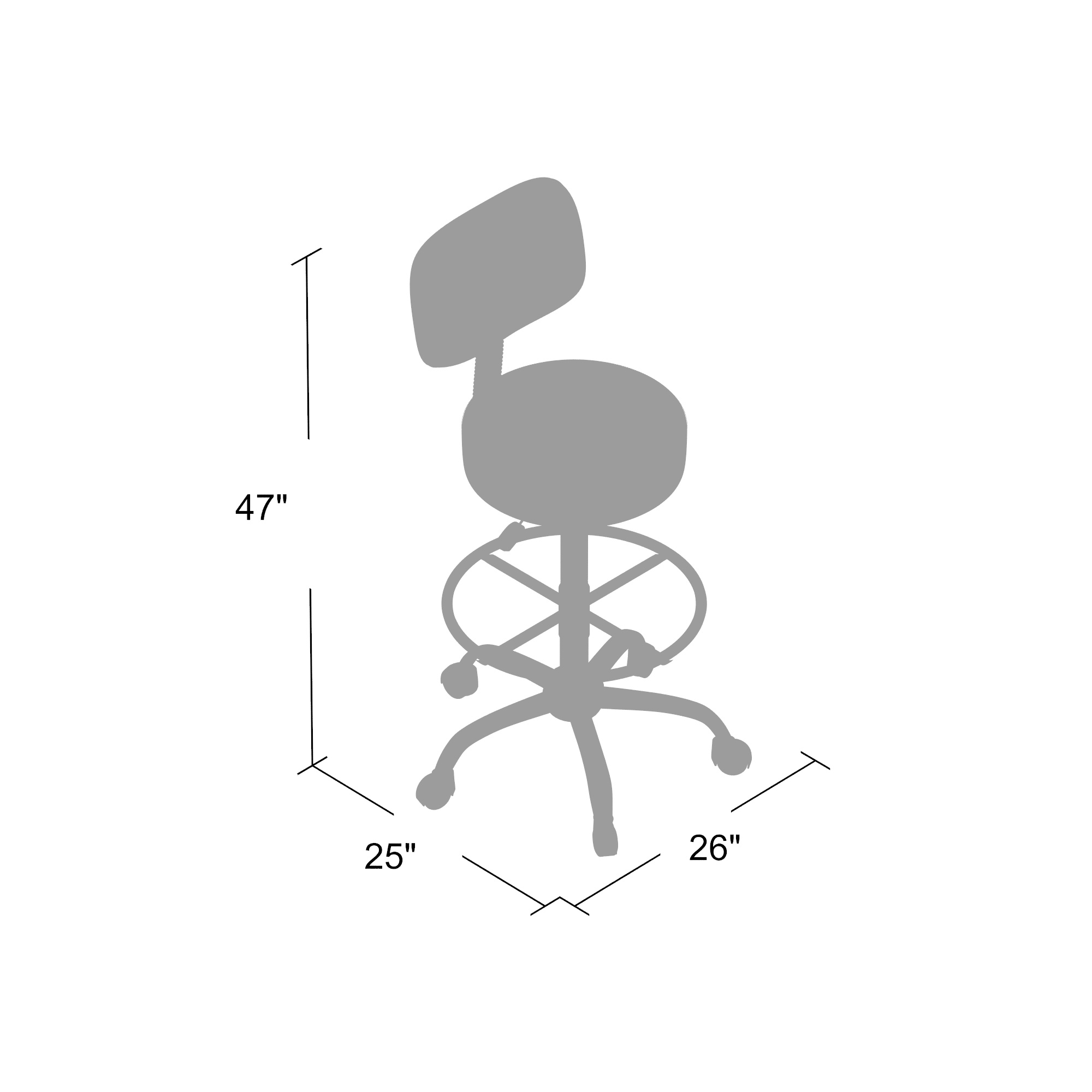 Enjoyable Boss Be Well Medical Spa Professional Adjustable Drafting Stool With Back And Removable Foot Rest Black Dailytribune Chair Design For Home Dailytribuneorg