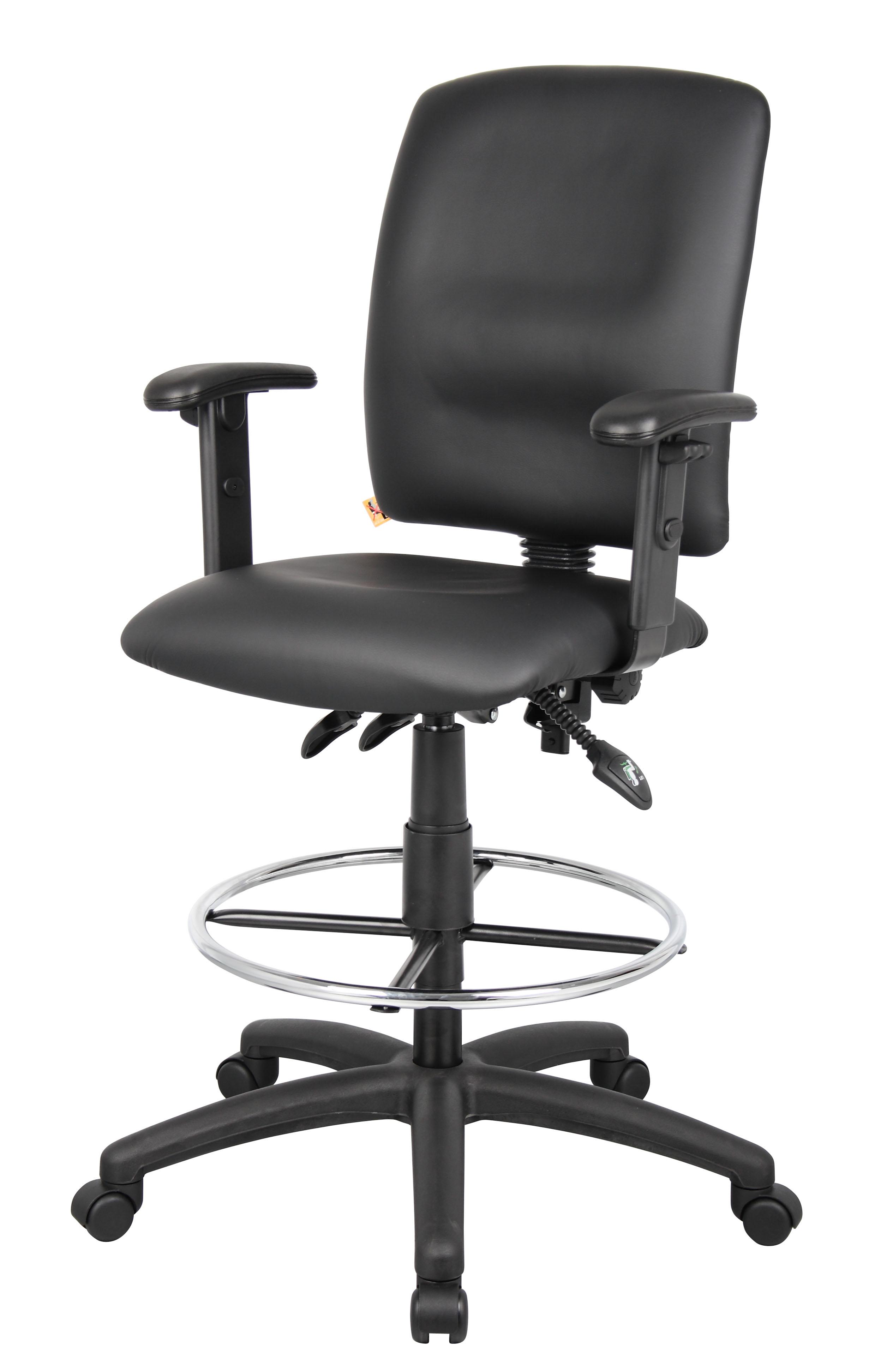 Astounding Boss Multi Function Leatherplus Drafting Stool W Adjustable Arms Creativecarmelina Interior Chair Design Creativecarmelinacom