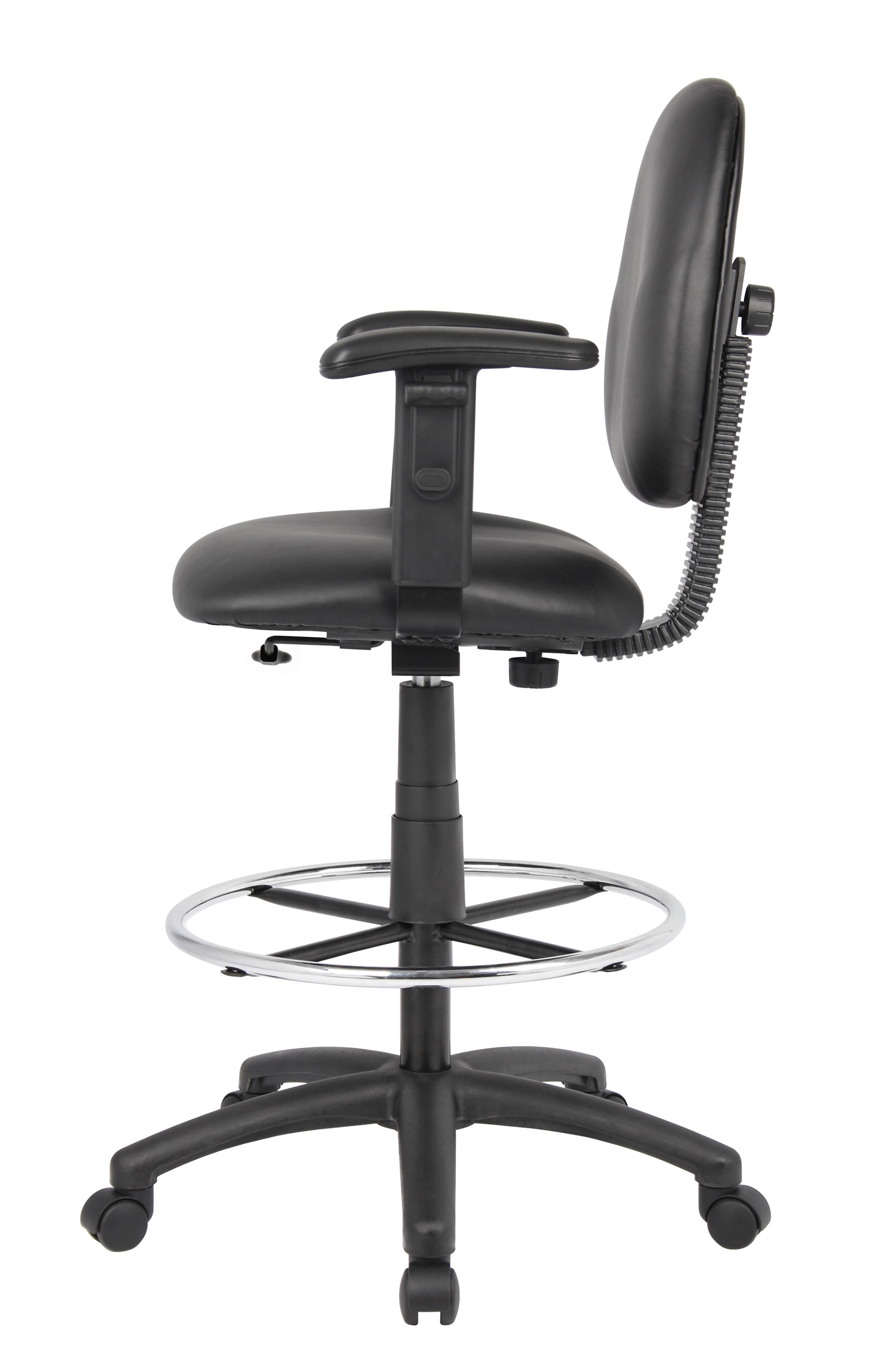 Boss Stand Up Drafting Stool With Foot Rest Black Bosschair