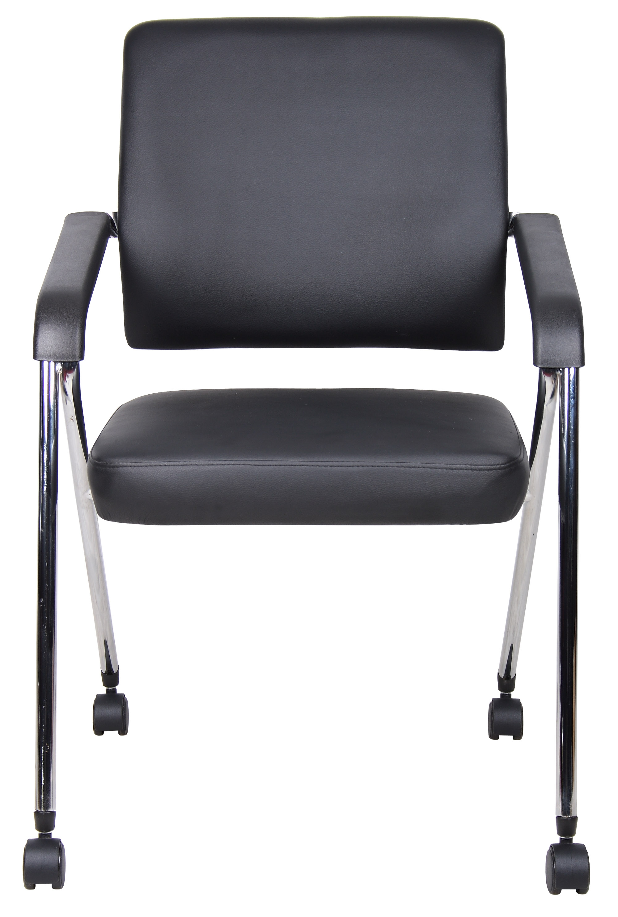 Boss Black Caressoft Plus Training Chair With Chrome Frame