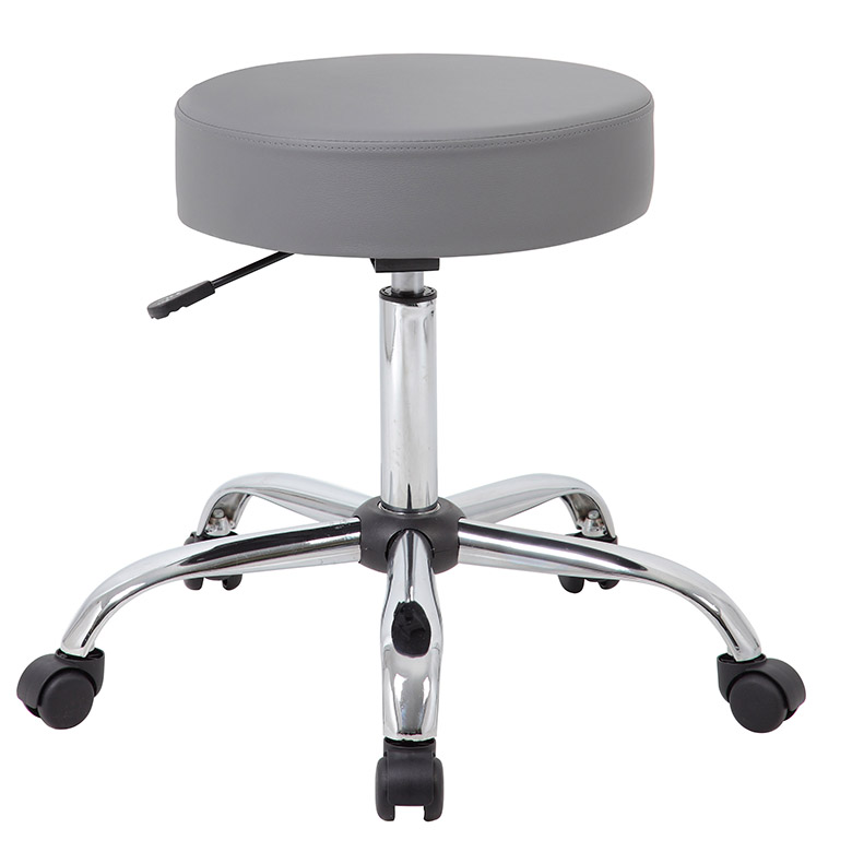 Boss Grey Caressoft Medical Stool Bosschair