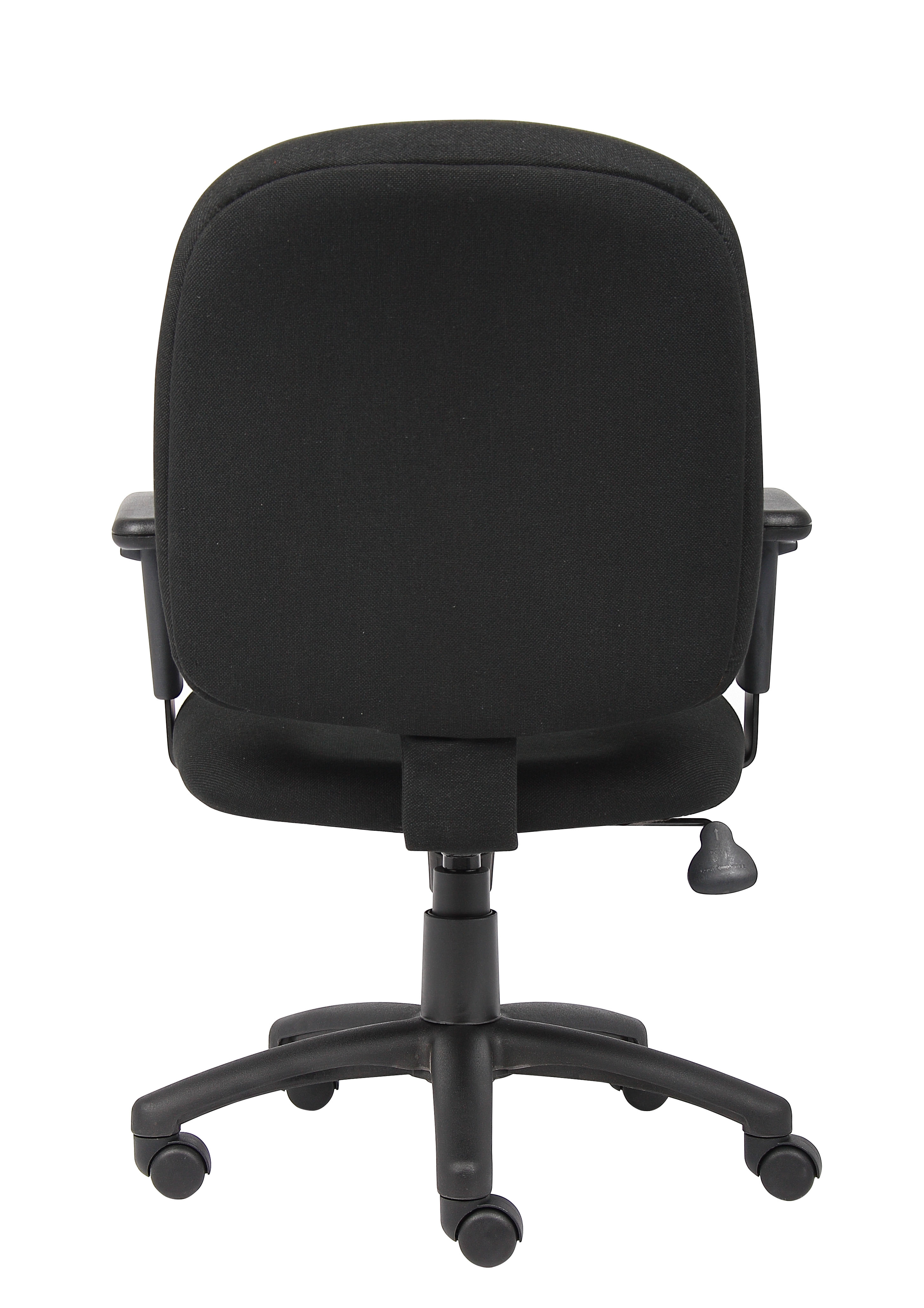 Picture of: Boss Black Fabric Task Chair W Adjustable Arms Bosschair