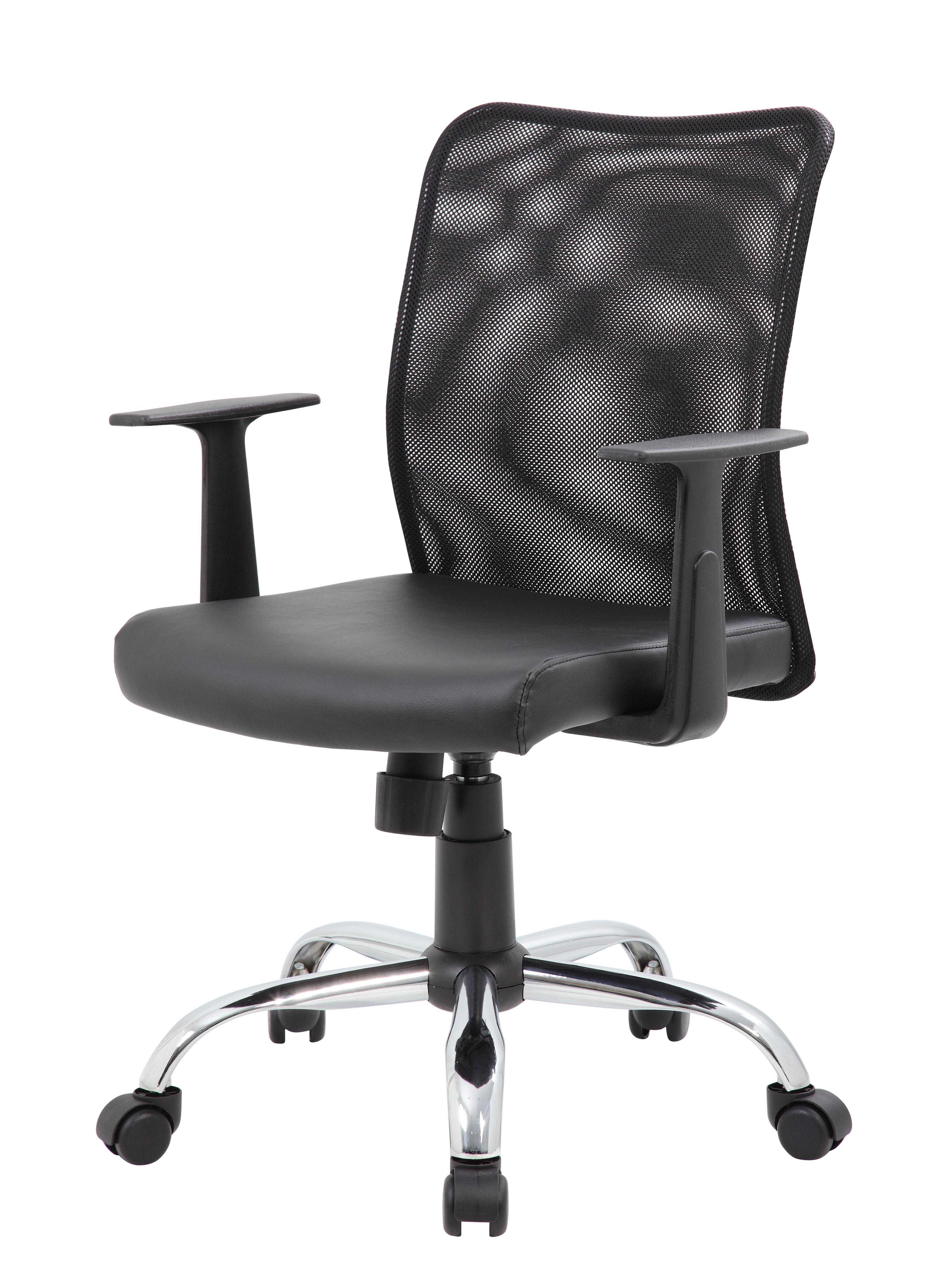 Boss Bud Mesh Task Chair W T Arms – BossChair