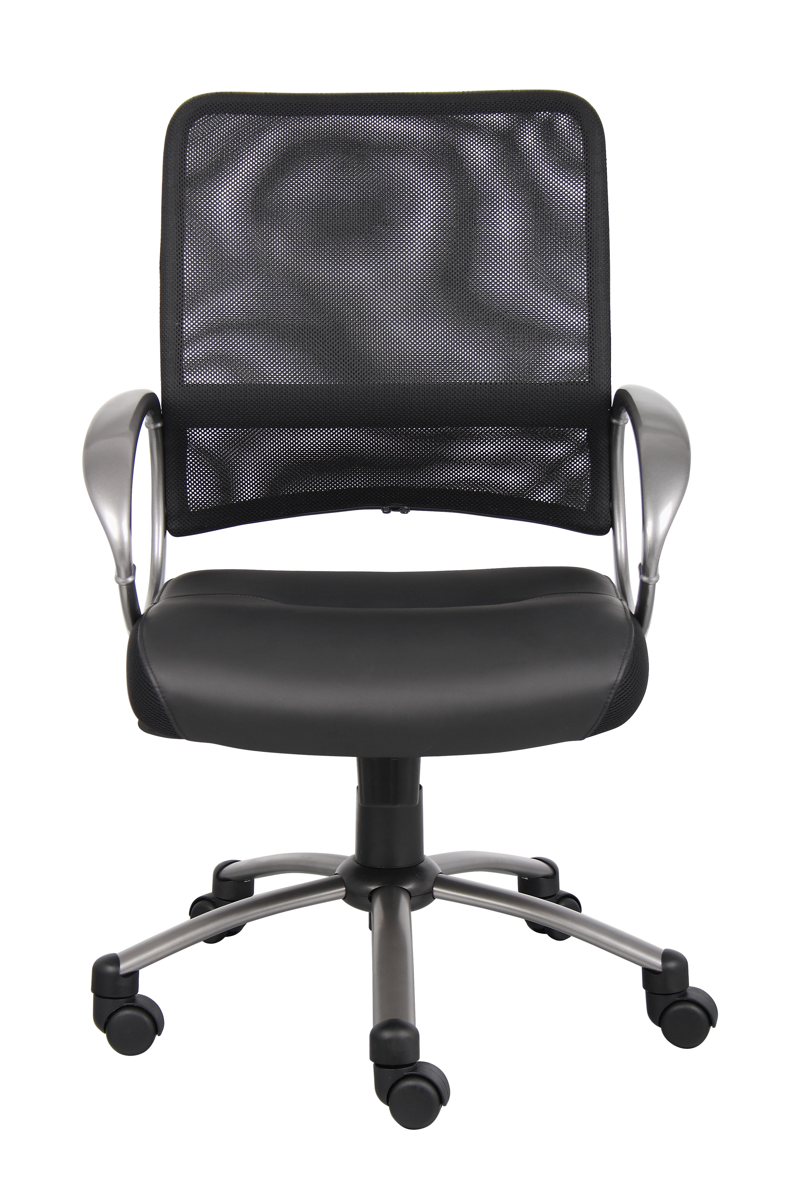 Boss Mesh Back W Pewter Finish Task Chair Bosschair