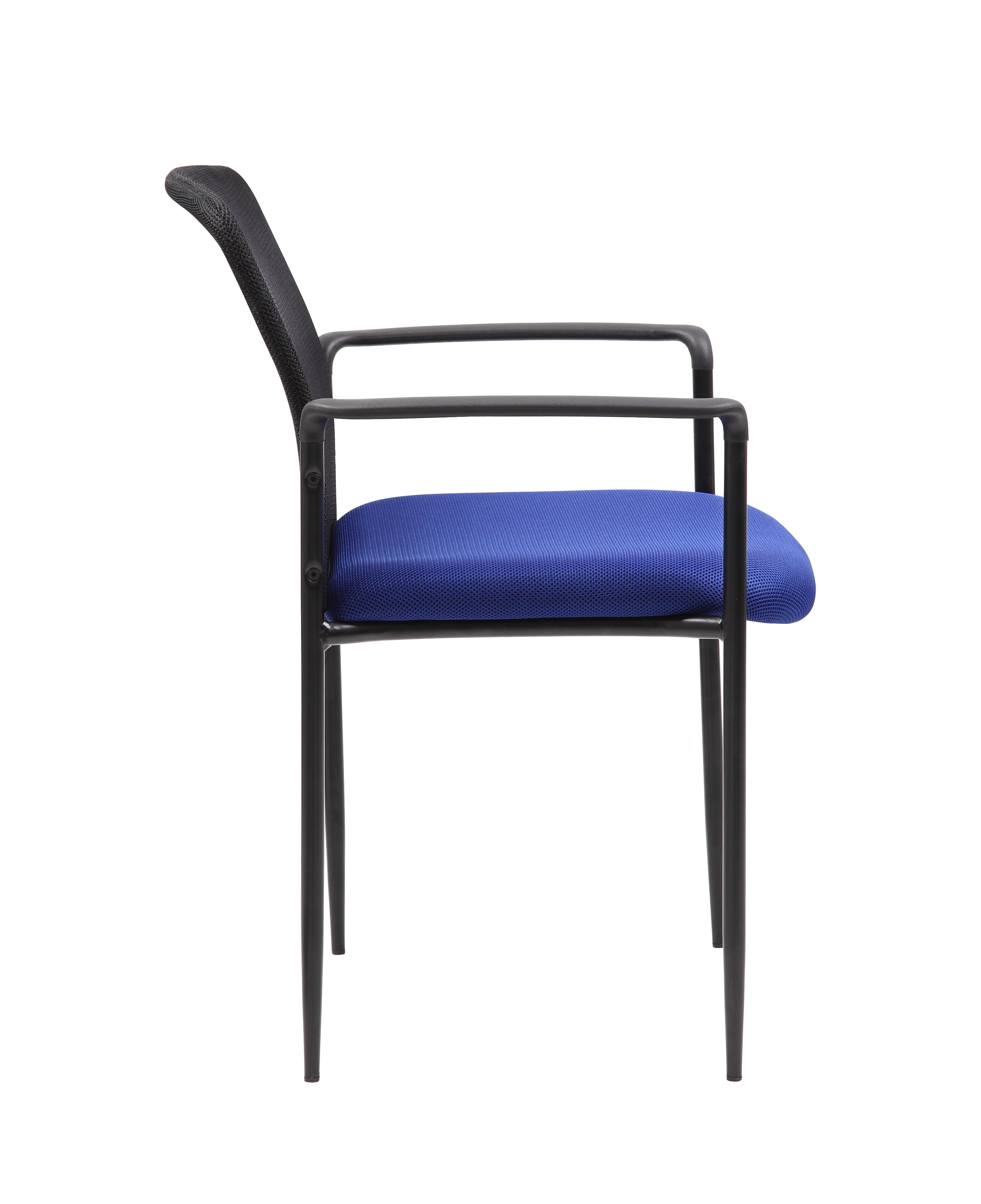 Boss Stackable Mesh Guest Chair, Blue