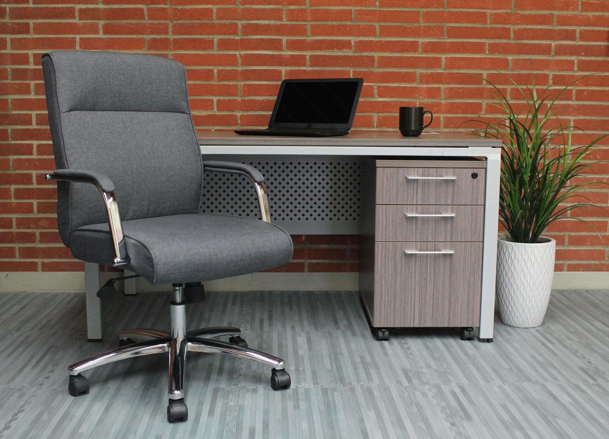 Boss Modern Executive Conference Chair Grey Linen