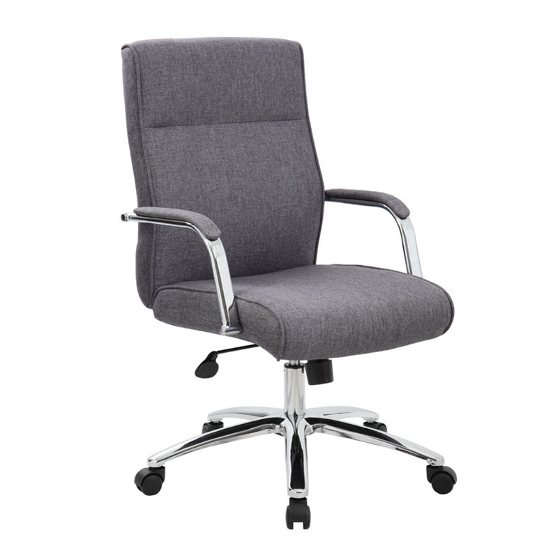 Boss Modern Executive Conference Chair Grey Linen