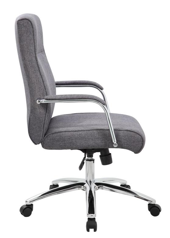 Boss Modern Executive Conference Chair Grey Linen Bosschair