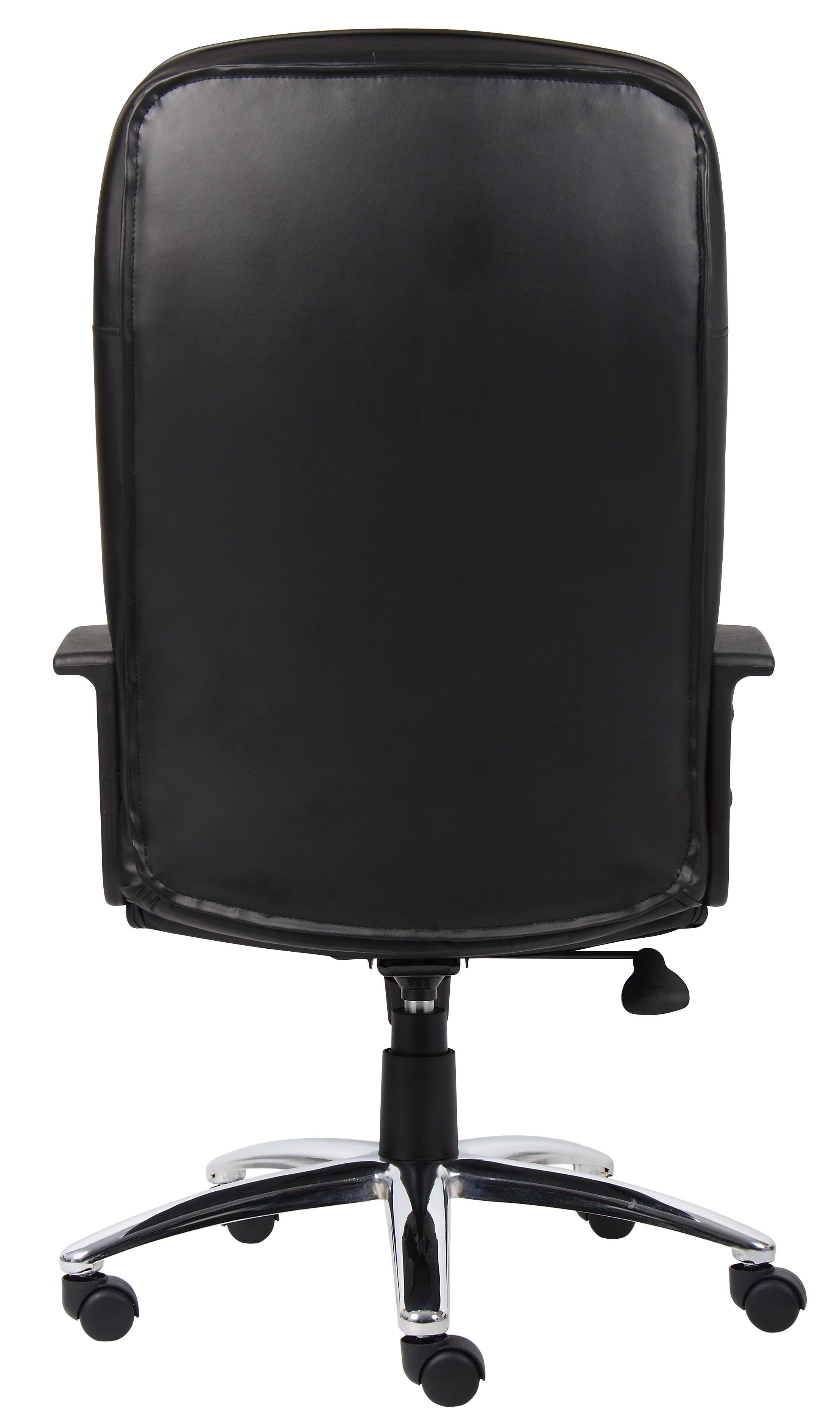 boss high back leatherplus chair w chrome base bosschair