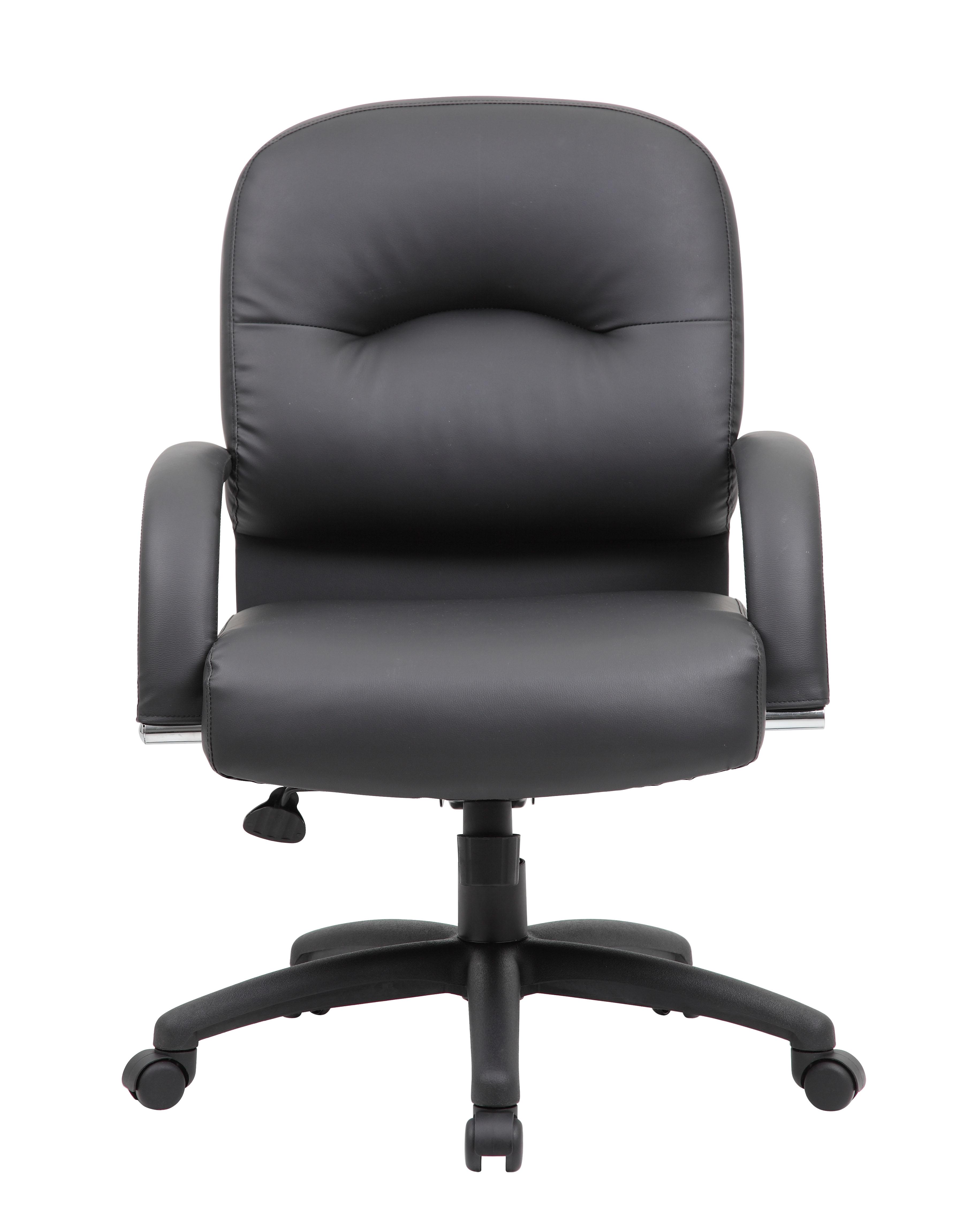 Boss Mid Back Caressoft Chair In Black Bosschair