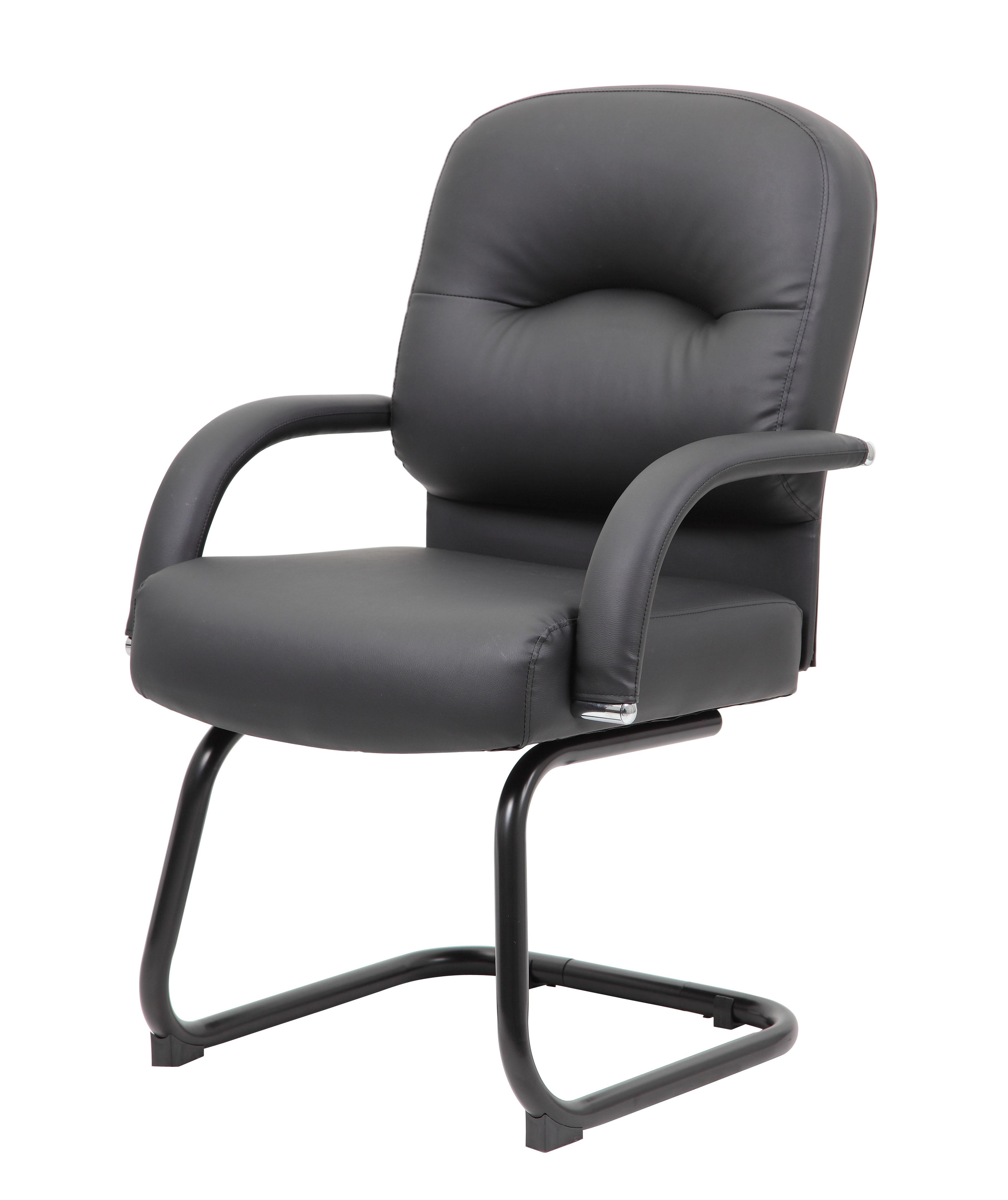 Boss Mid Back Caressoft Guest Chair In Black Bosschair