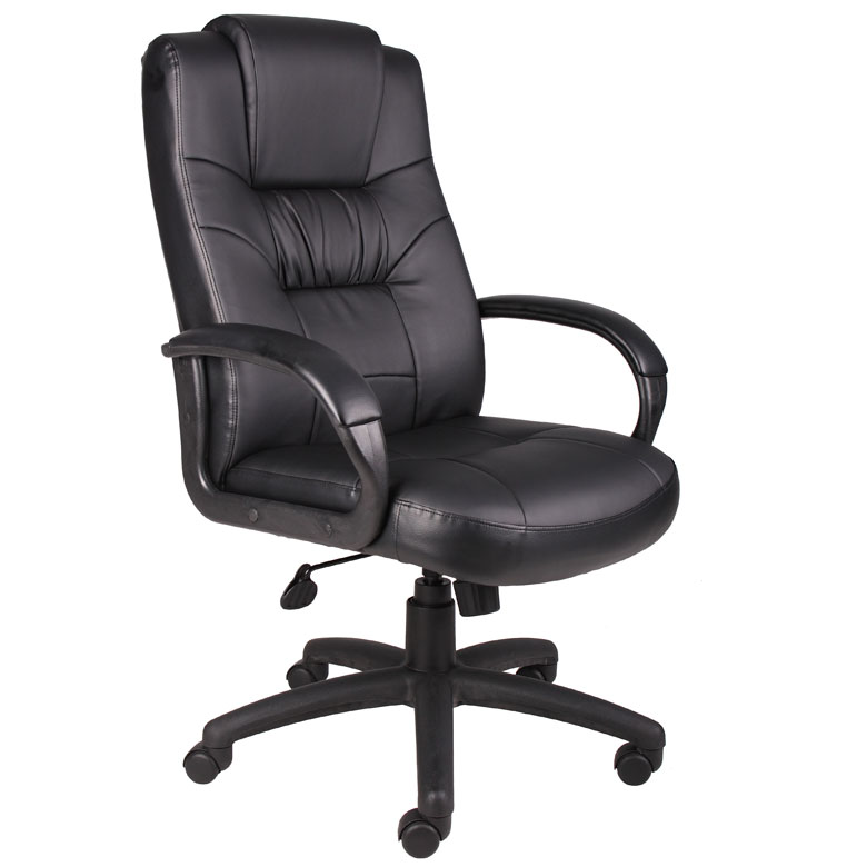Boss Executive High Back LeatherPlus Chair W/Knee Tilt  sc 1 st  Boss Office Products & Knee Tilt Chairs u2013 BossChair