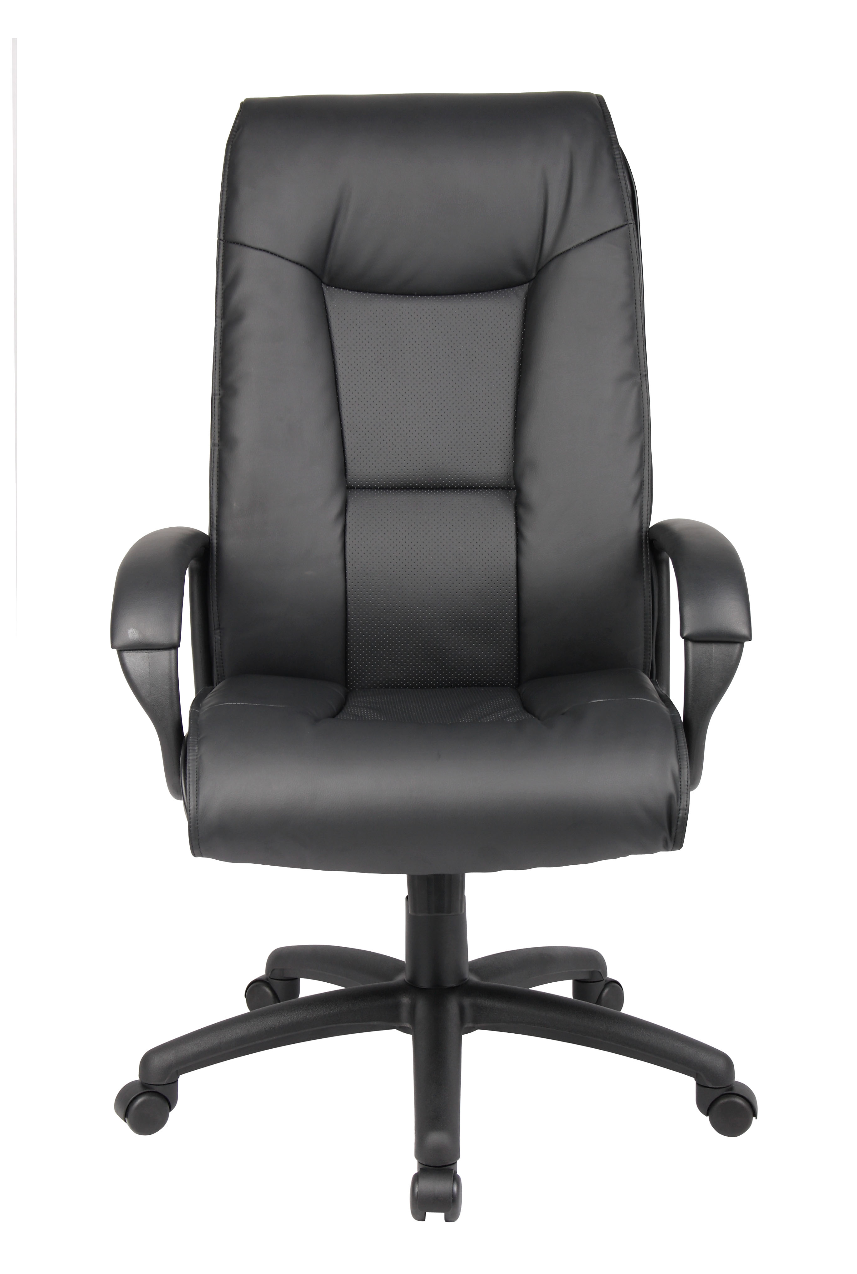 Boss Executive Leather Plus Chair W Padded Arm Bosschair