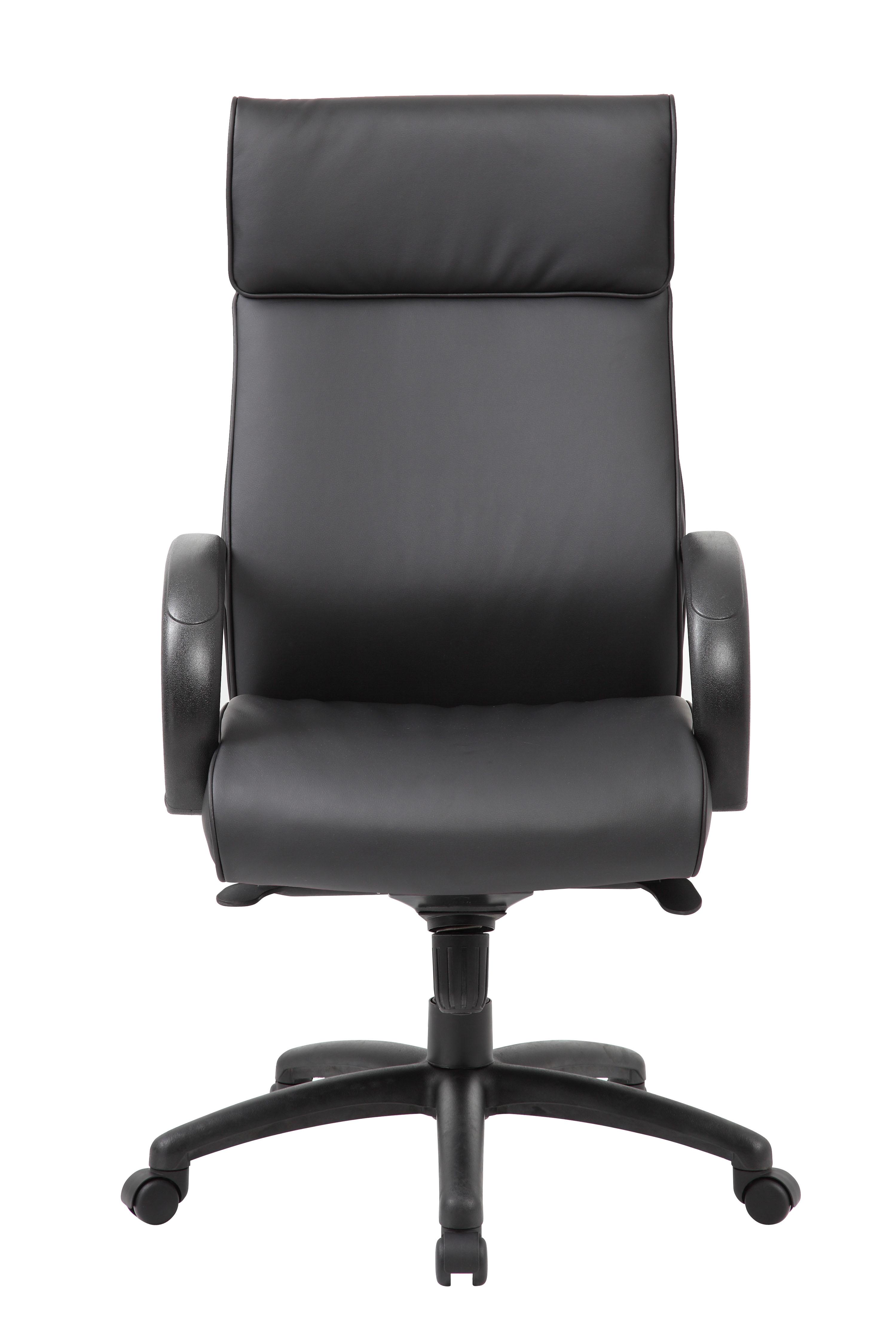 Boss High Back Executive Chair Black Finish Black Upholstery