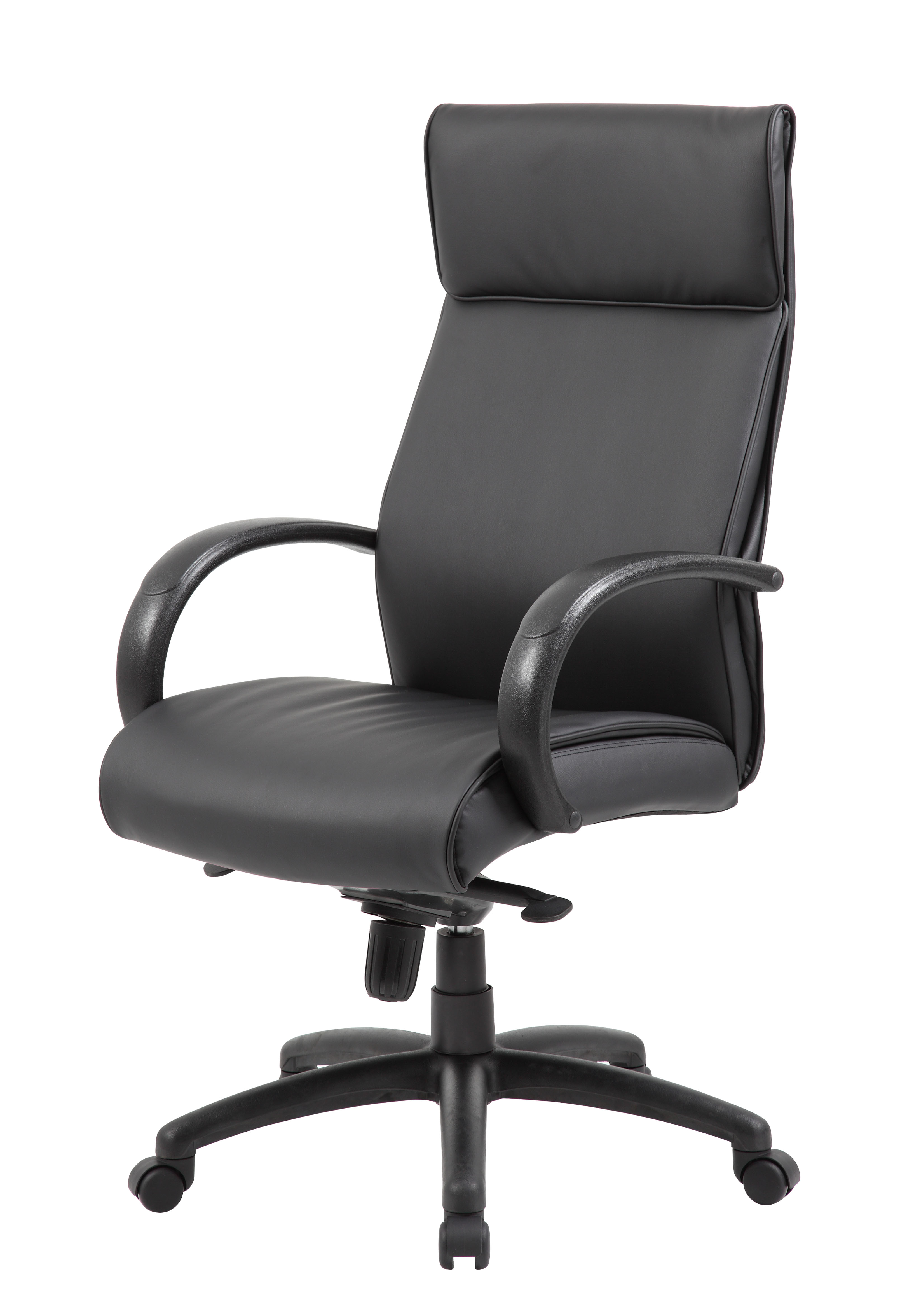 Boss High Back Executive Chair / Black Finish / Black Upholstery ...