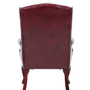 boss wingback traditional guest chair in burgundy bosschair