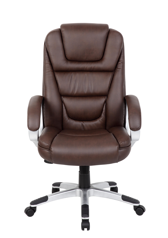 Boss Ntr Executive Leatherplus Chair Brown Bosschair