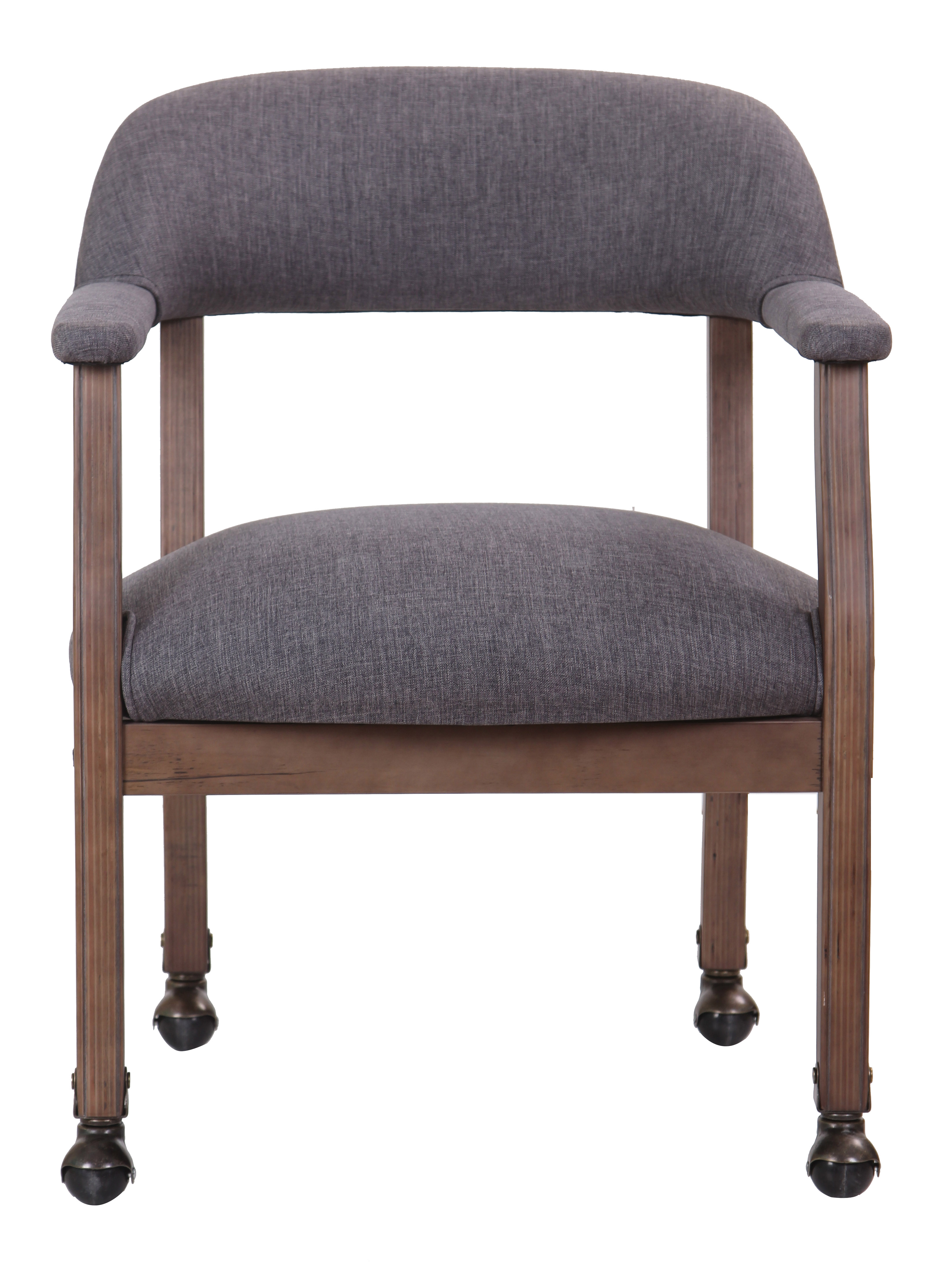 Modern captain chair - Boss Modern Captain S Chair In Slate Grade Commercial Grade Linen With Casters