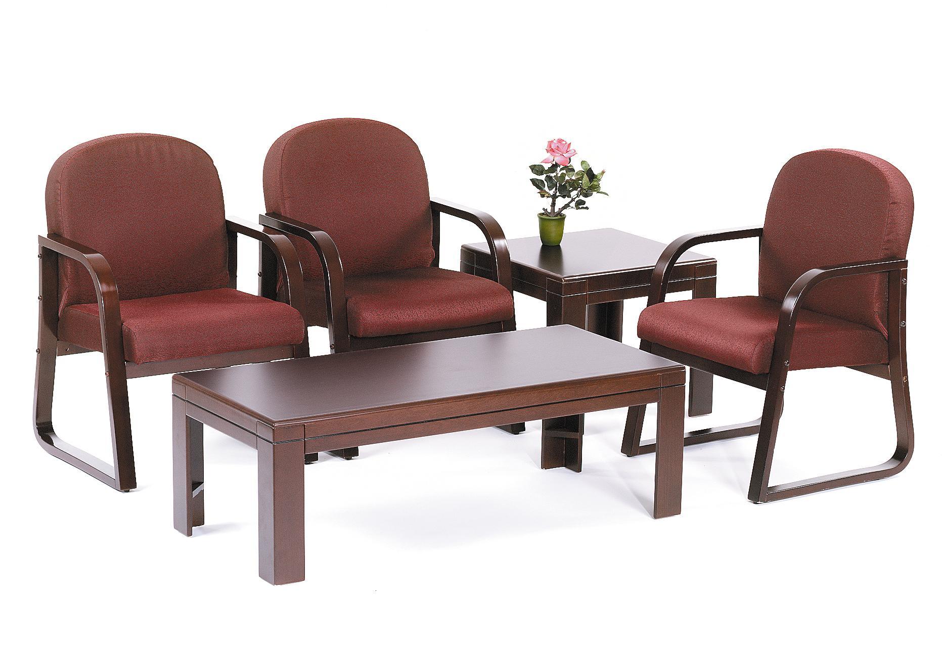 Boss Mahogany Frame Side Chair In Burgundy Fabric Bosschair