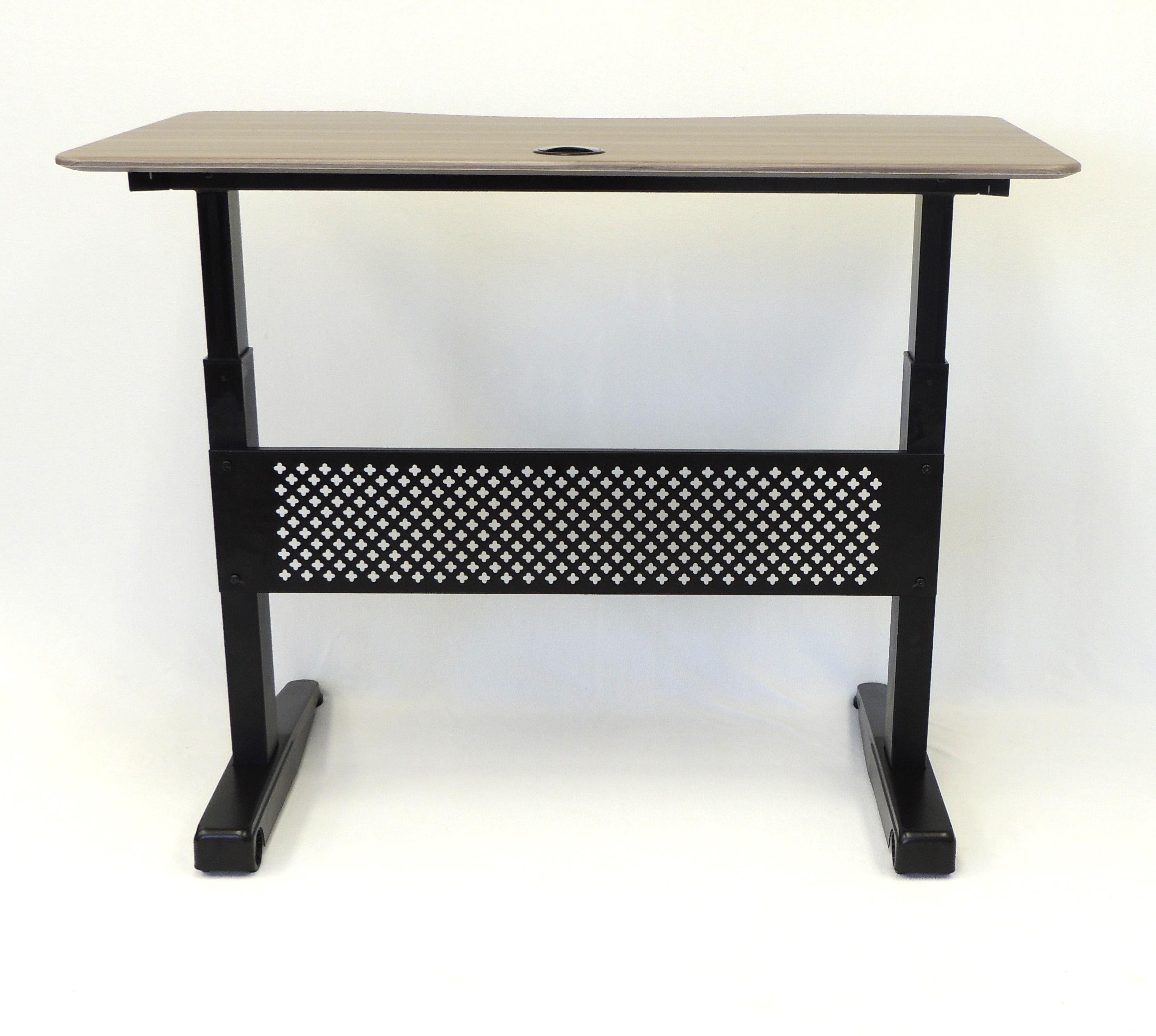 Boss Height Adjustable Desk 48 X 25 5 Driftwood Bosschair