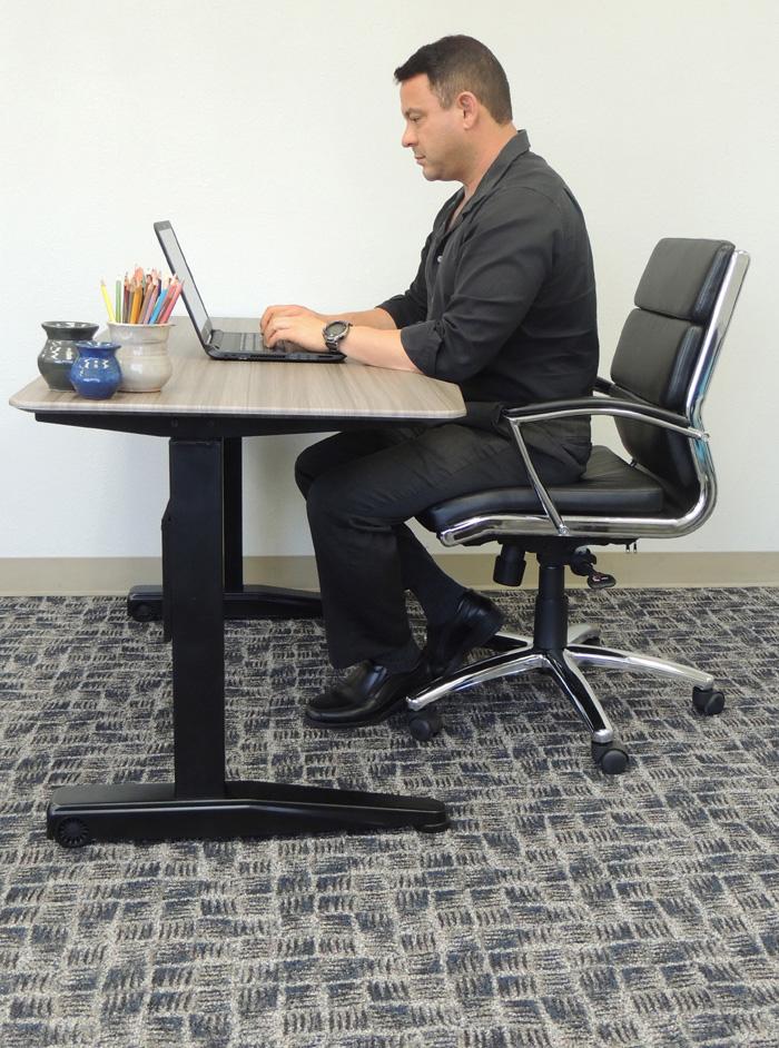 Boss Height Adjustable Desk 60 X 25 5 Driftwood Bosschair