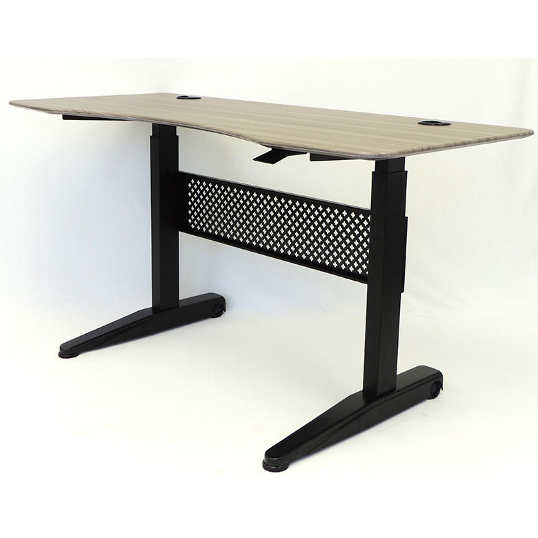 maple r electric the height desk table standing top desks adjustable shaped multitable l fusion product