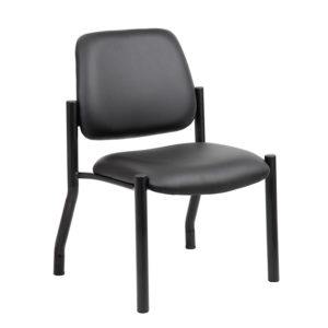 Boss Mid Back Armless Guest Chair, Antimicrobial Vinyl